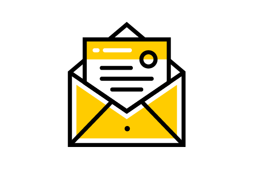 Send Mail Icon for asking Prospects to get contacted