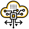 Cloud Icon with interconnected dots for visualizing integrations